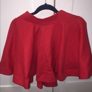 Red flare baby doll skirt